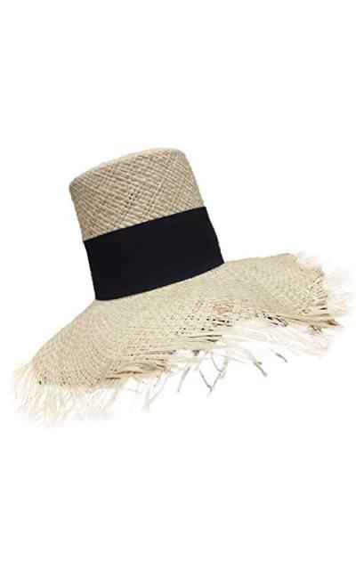 Beach Raffia Wide Brim Sun Hat