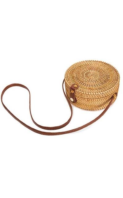 Handwoven Round Rattan Bag