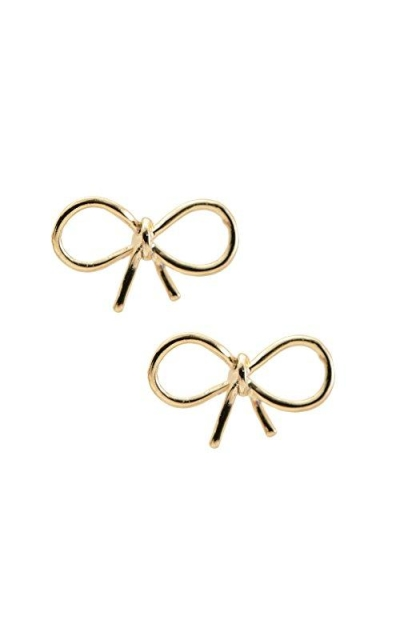 Spinningdaisy Handmade High Gloss Tiny Bow Earrings