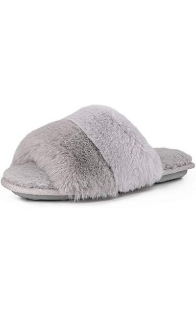 Fuzzy Faux Fur Slippers