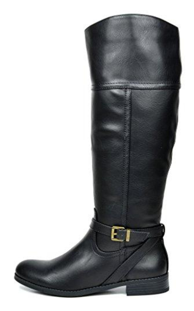 TOETOS Knee High Winter Riding Boots (Wide-Calf)