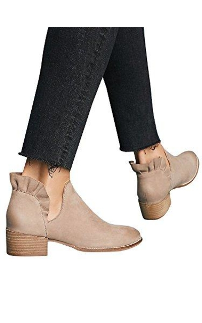 Ruffled Ankle Booties