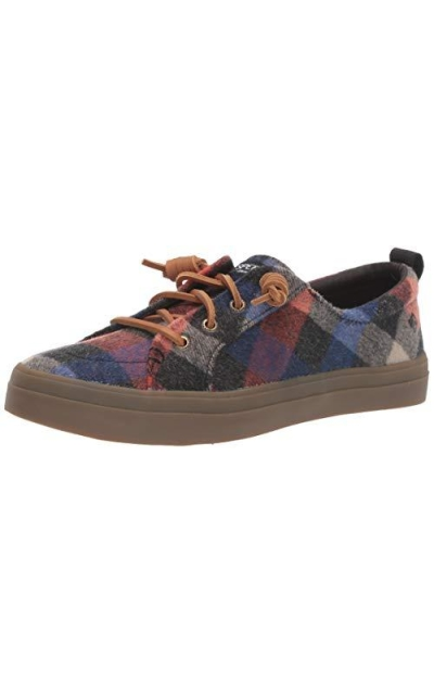 Sperry Crest Vibe Plaid Wool Sneaker