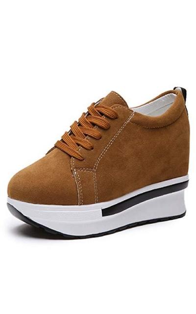 DETAIWIN Platform Wedges Sneakers