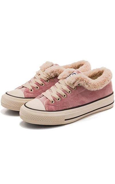 JUSTFASHIONNOW Suede Fur Sneakers