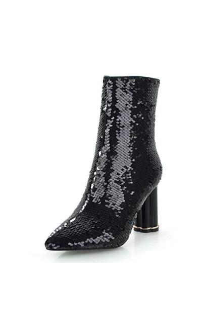 Vimisaoi Sequins Ankle Booties