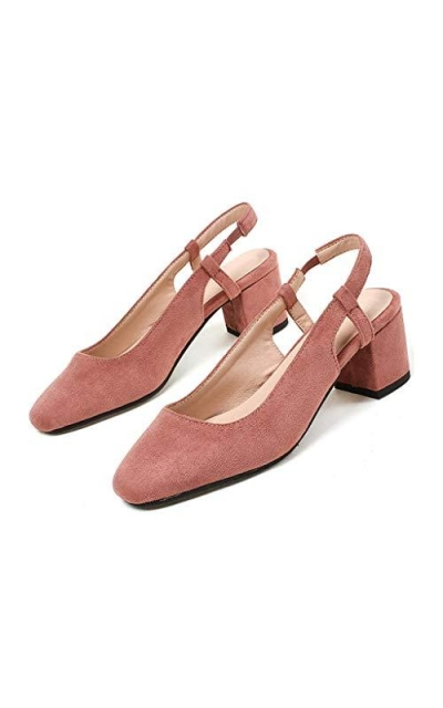 MIOKE Square Toe Slingback Pumps