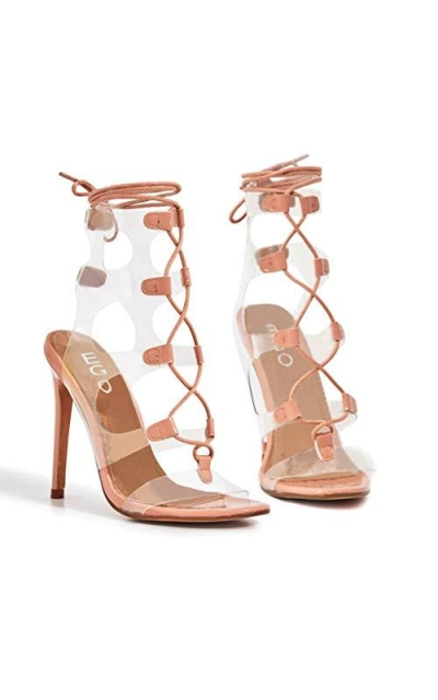 Cape Robbin Dazed Nude Clear Cutouts Heels