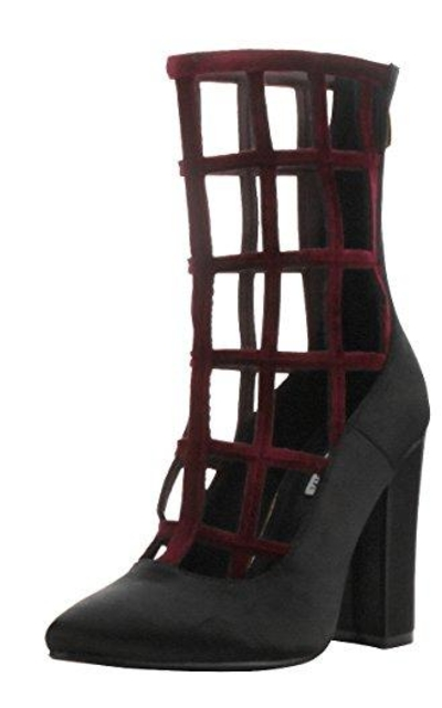 CAPE ROBBIN Caged Cutout Gladiator Ankle Booties