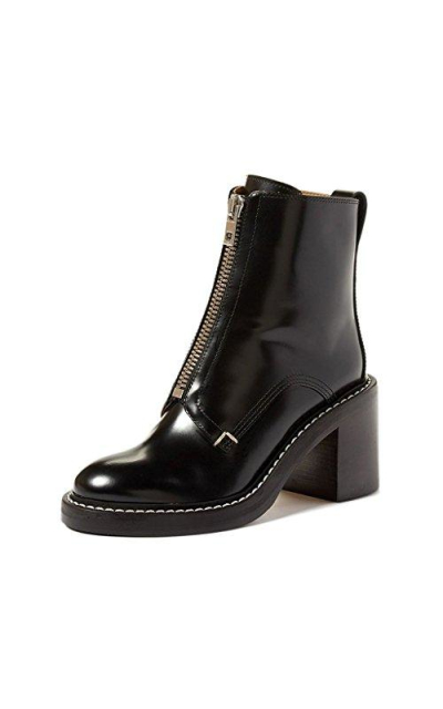 FSJ Stacked Heels Ankle Boots