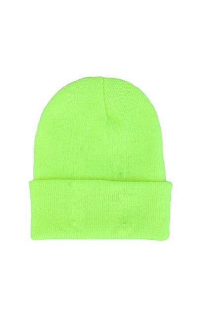 CANCA Neon Knit Beanie