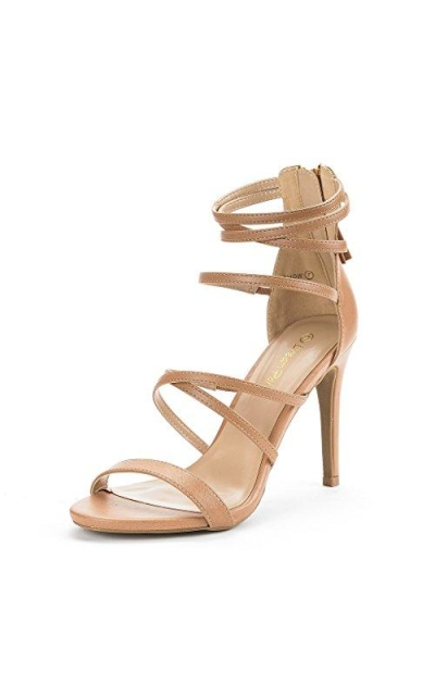 DREAM PAIRS Show Nude High Heel Sandals