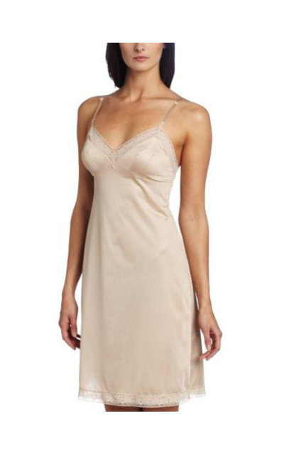Vanity Fair Rosette Lace Full Slip