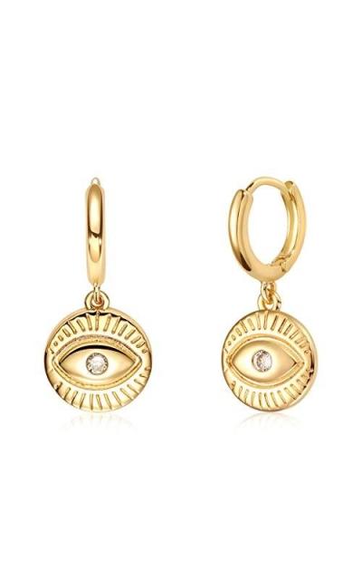 VACRONA Evil Eye Huggie Hoop Earrings