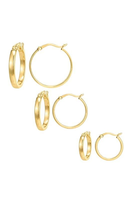3 Pairs Thick Lightweight Hoops