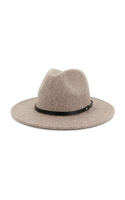 Lisianthus Classic Wool Fedora with Belt Buckle