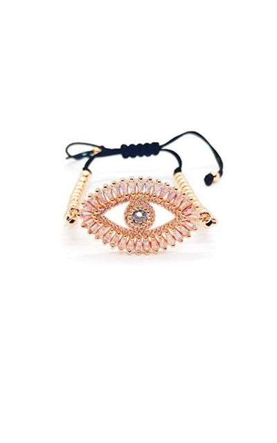 LESLIE BOULES Big Evil Eye String Bracelet