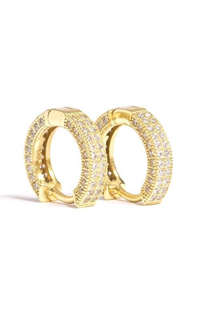 Small 14k Gold Plated Hoop Huggie Earrings