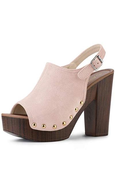 Allegra K Slingback Platform Heel Sandals