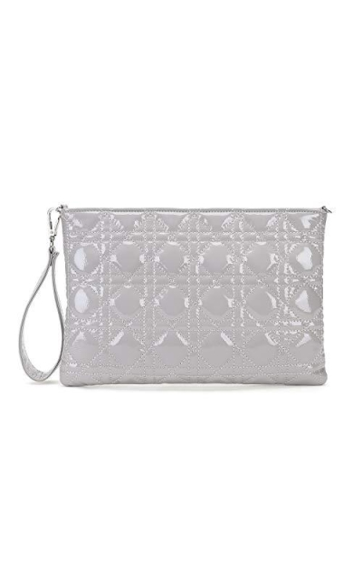Charming Tailor Quilted Patent Convertible Clutch