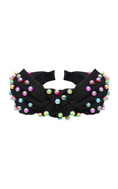 Colorful pearl headband