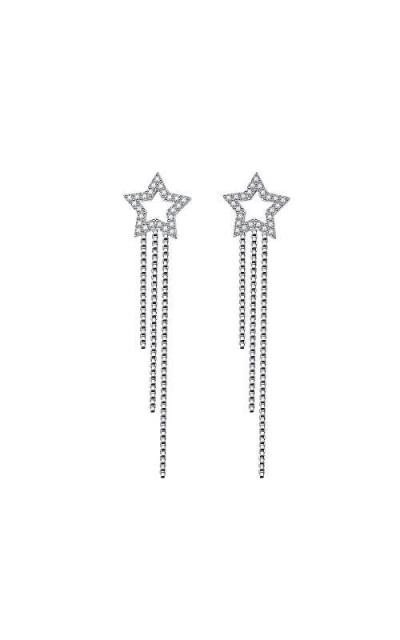 S925 Sterling Silver Stars Dangle Tassels Long Earrings
