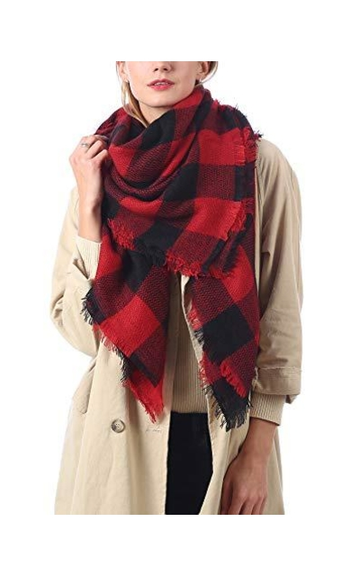 Easysmile Buffalo Plaid Scarf