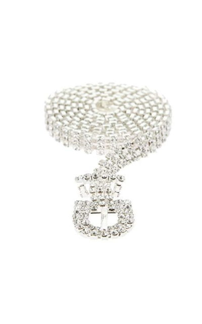 SP Sophia Collection Crystal Rhinestone Chain Belt
