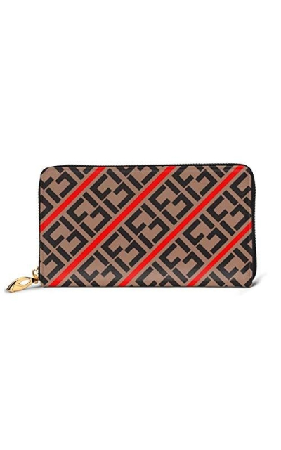 FFF-Fendi Extra Capacity Travel PU Leather Wallet