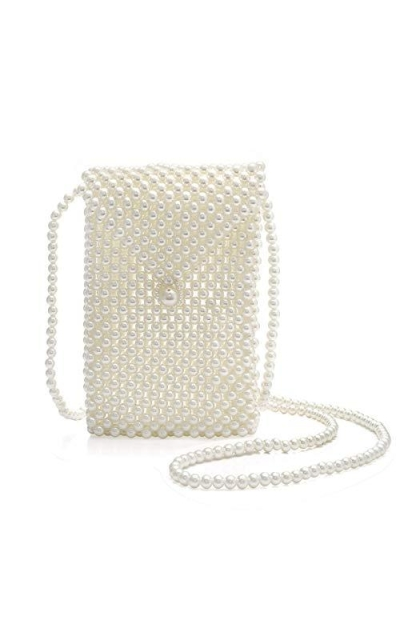 Beaded Pearl Crossbody Bag