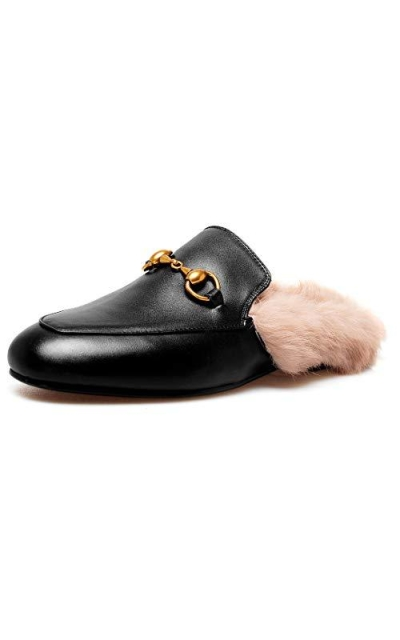 Comfity Mules Fur Loafers