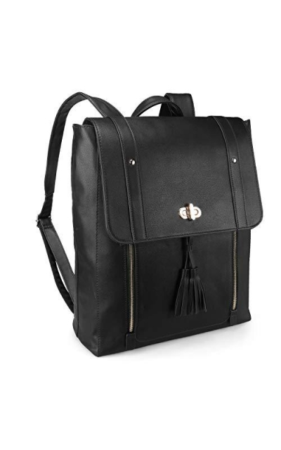 Yzstar Faux Leather Laptop Backpack