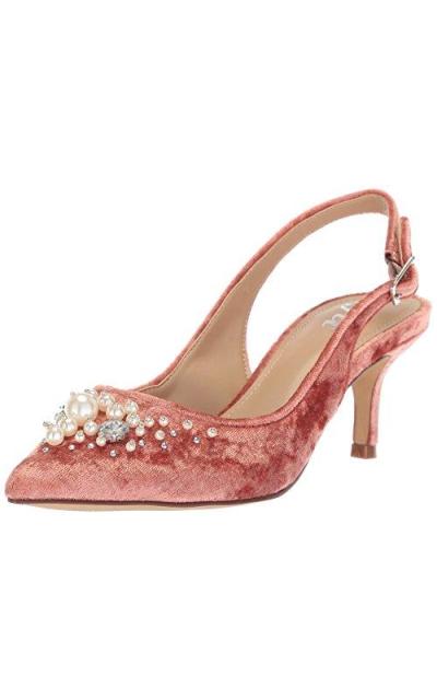 The Fix Felicia Slingback Kitten Heel Pump with Faux Pearls