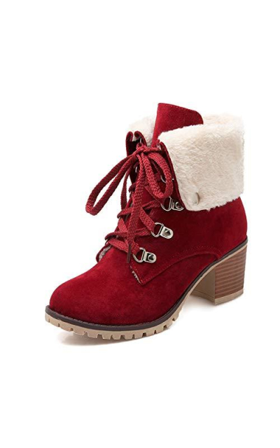 DecoStain  Fur Shoes Keep Warm Ankle Boots