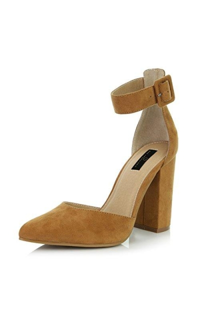 DailyShoes Ankle Strap High Heel Shoes