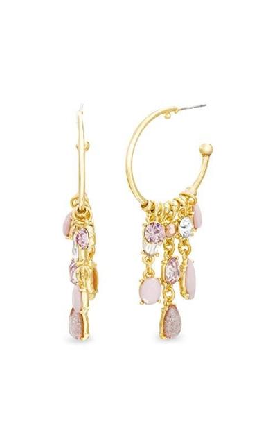 CATHERINE MALANDRINO Metallic Rhinestone Chandelier Earrings