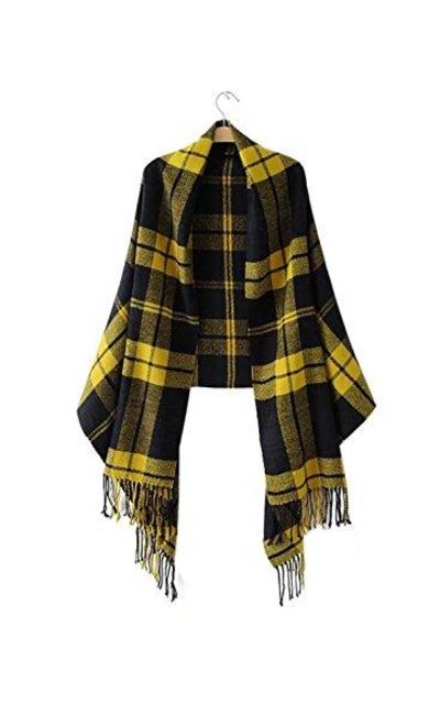FFLMYUHULIU Tartan Blanket Scarf