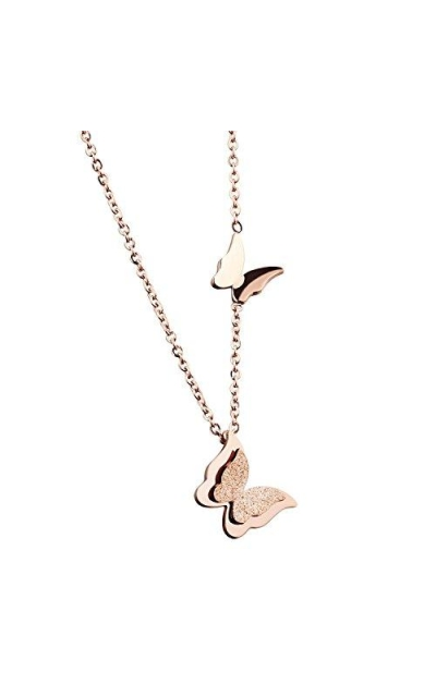 WDSHOW Butterfly Pendant Necklace