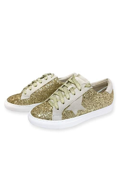 Classic Two Tone Star Lace up Sneakers