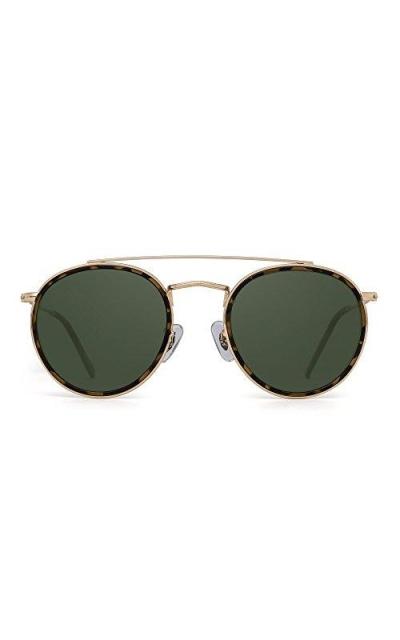 JIM HALO Small Polarized Round Sunglasses