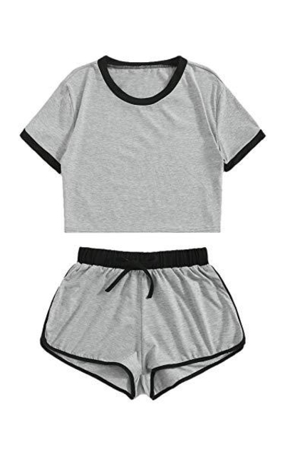 SweatyRocks 2 Piece Pajama Set