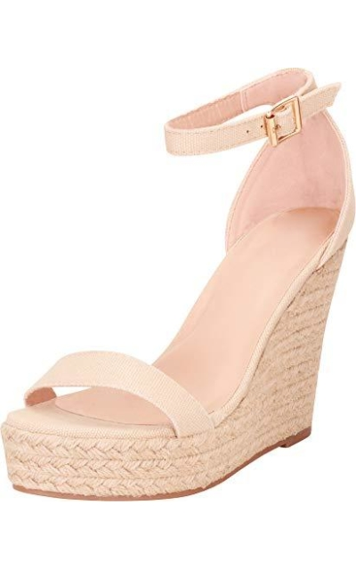 Cambridge Select Open Toe Platform Wedge Sandal