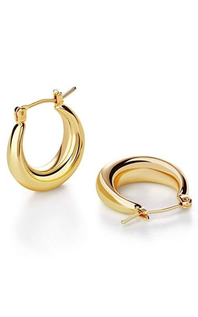 LILIE&WHITE Chunky Gold Hoop Earrings