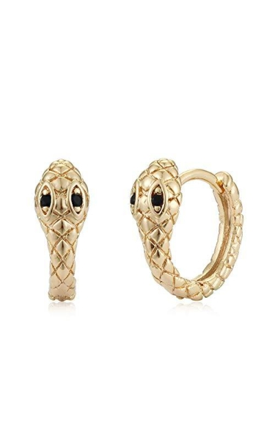 Mevecco Gold Huggie Hoop Earrings