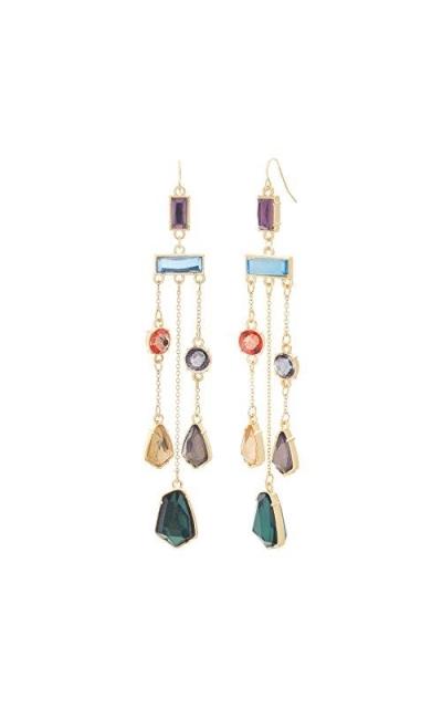 CATHERINE MALANDRINO Multi-Colored Chandelier Earrings