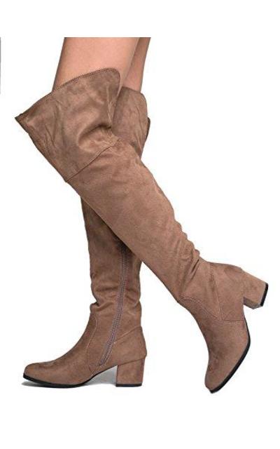 Low Heel Over the Knee Boot