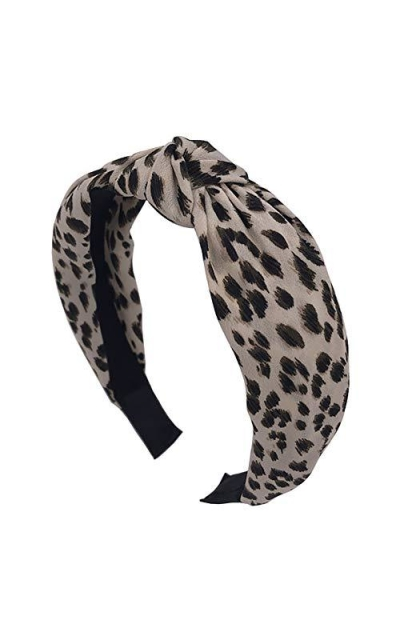 Leopard Pattern Knot Wide Headband