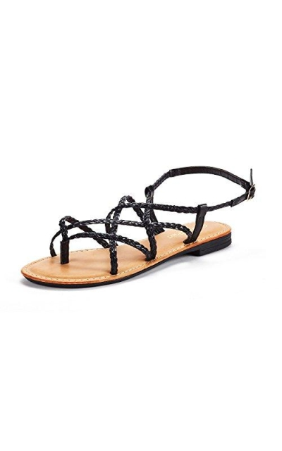 DREAM PAIRS Thong Design Strappy Sandals