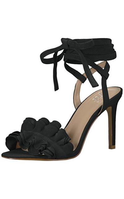The Fix Cantu Ruffle Ankle Wrap Dress Sandal