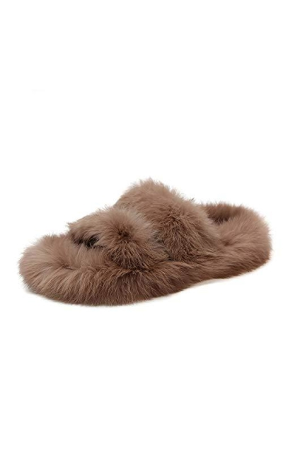 Natural Fur Women Slippers